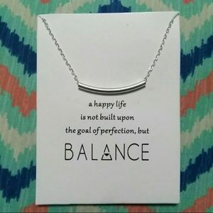 Balance womens dogeared style silver necklace